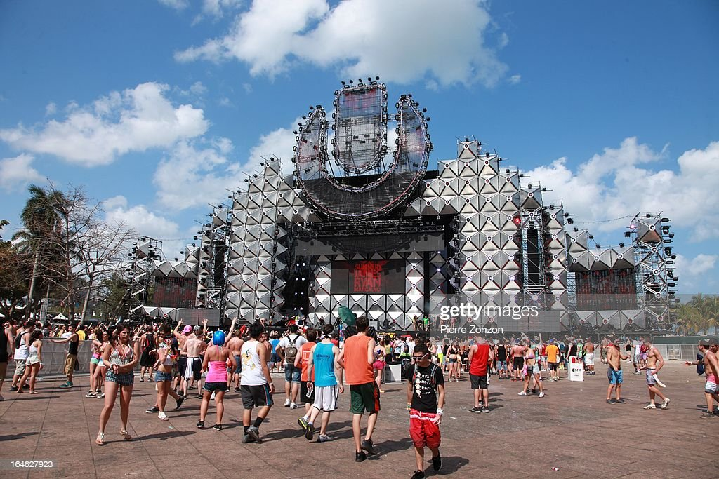 Ultra main stage at the Ultra Music Festival at Bayfront Park Amphitheater on March 24, 2013 in Miami, Florida.