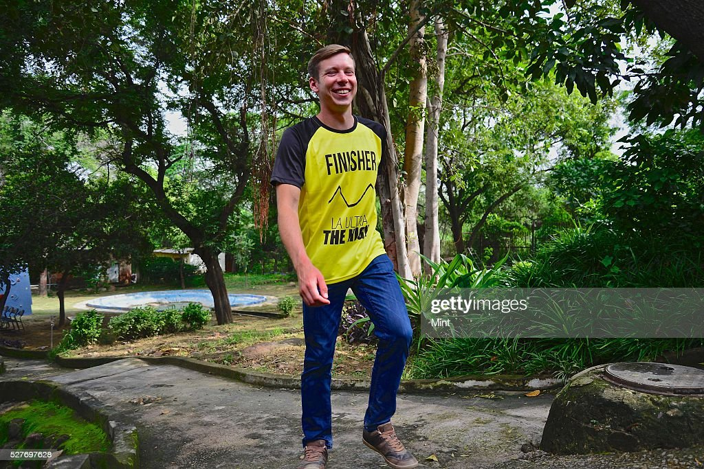 Ultra Runner Sean Maley poses for a profile shoot on August 21, 2015 in New Delhi, India.