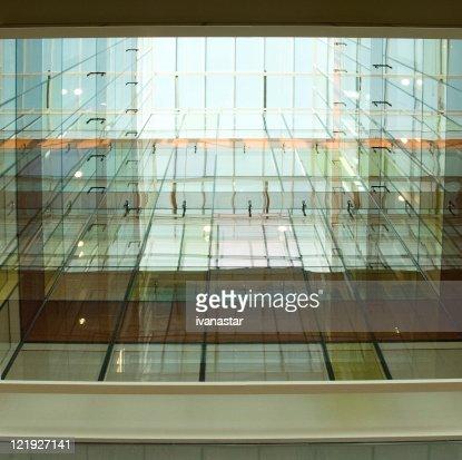 Ultramodern Glass Atrium Architecture
