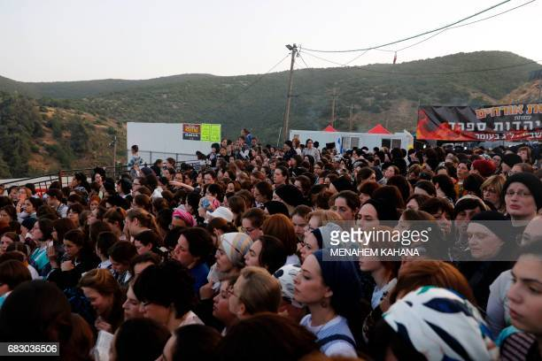 UltraOrthodox Jewish women attend the celebration at the grave site of Rabbi Shimon Bar Yochai in the northern Israeli village of Meron May 14 at the...