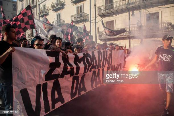 Ultras of Palermo in conflict with the president Maurizio Zamparini Supporters have been protesting against Zamparini for several years