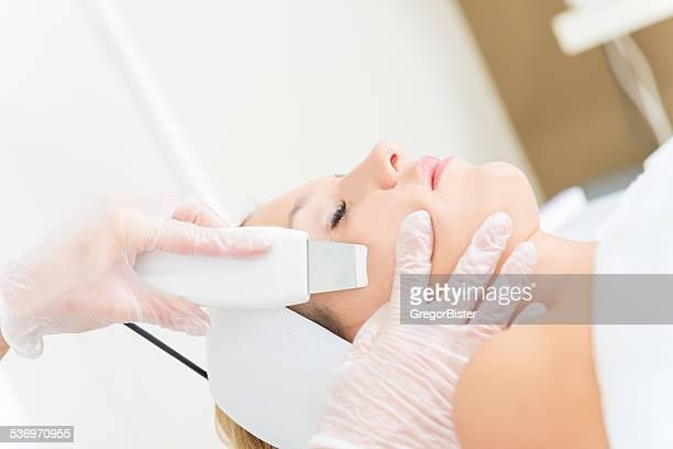 Ultraschall-Untersuchung Haut Reinigung