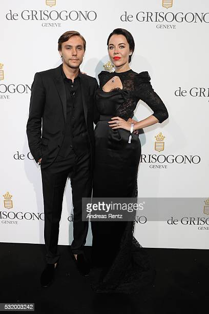Ulyana Sergeenko and guest attends the De Grisogono Party during the annual 69th Cannes Film Festival at Hotel du CapEdenRoc on May 17 2016 in Cap...