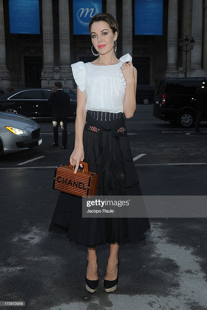 Ulyana Sergeenko arrives at 'The Glory Of Water' : Karl Lagerfeld's Exhibition Dinner at Fendi on July 3, 2013 in Paris, France.