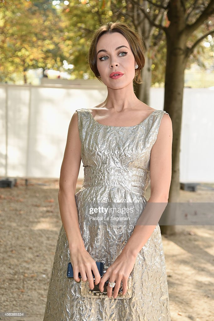 Ulyana Sergeenko arrives at the Valentino show as part of the Paris Fashion Week Womenswear Spring/Summer 2015 on September 30 2014 in Paris France