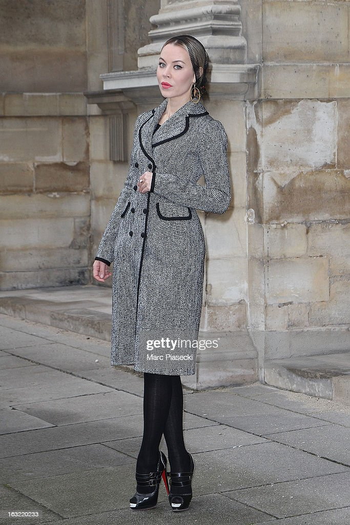 Ulyana Sergeenko arrives to attend the 'Louis Vuitton' Fall/Winter 2013 Ready-to-Wear show as part of Paris Fashion Week on March 6, 2013 in Paris, France.