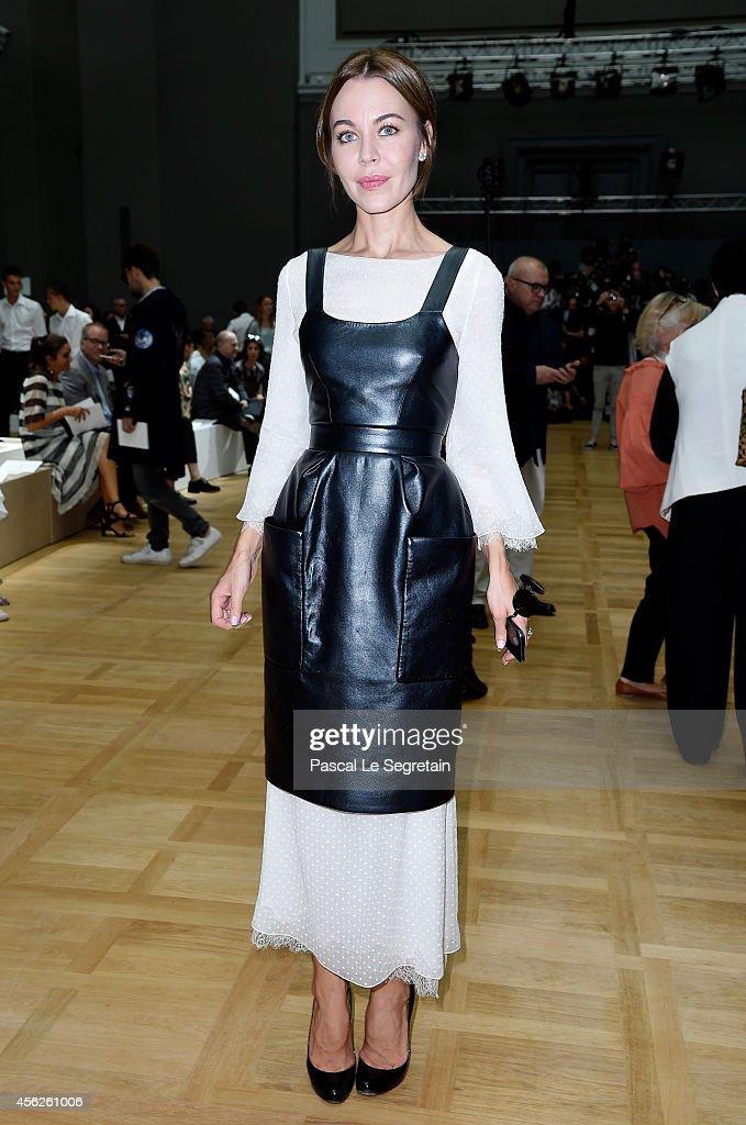 Ulyana Sergeenko attends the Chloe show as part of the Paris Fashion Week Womenswear Spring/Summer 2015 on September 28 2014 in Paris France