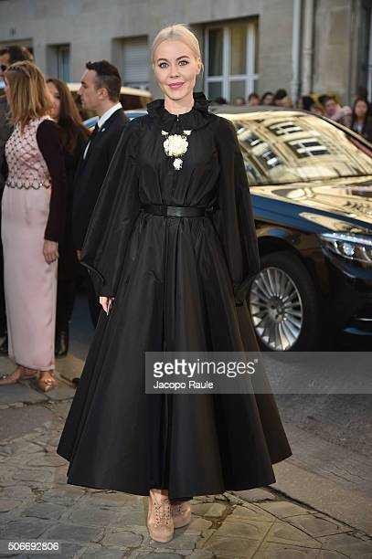 Ulyana Sergeenko attends the Christian Dior Haute Couture Spring Summer 2016 show as part of Paris Fashion Week on January 25 2016 in Paris France