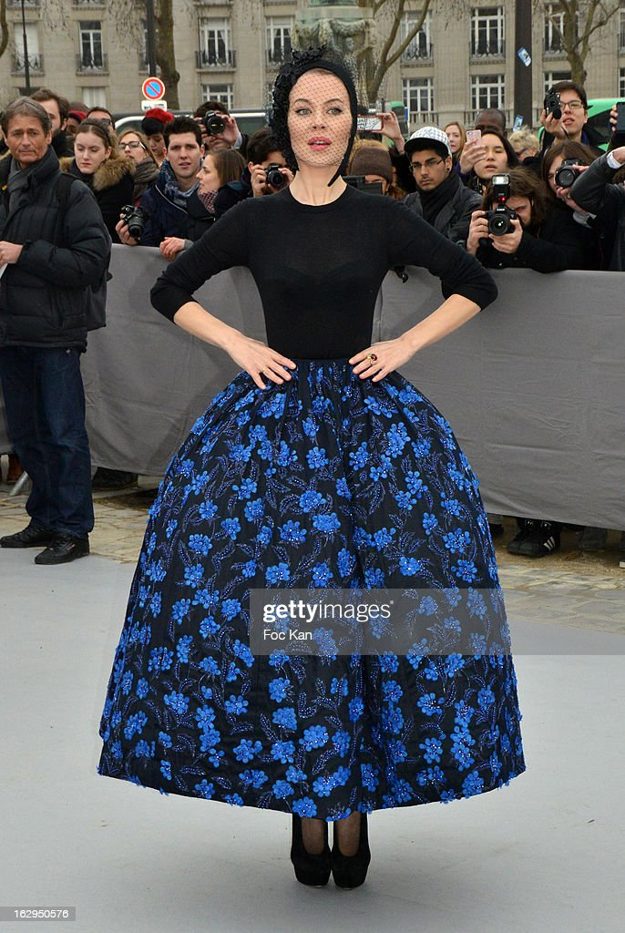 Ulyana Sergeenko attends the Christian Dior - Outside Arrivals - PFW F/W 2013 at Hotel des Invalides on March 1rst, 2013 in Paris, France.