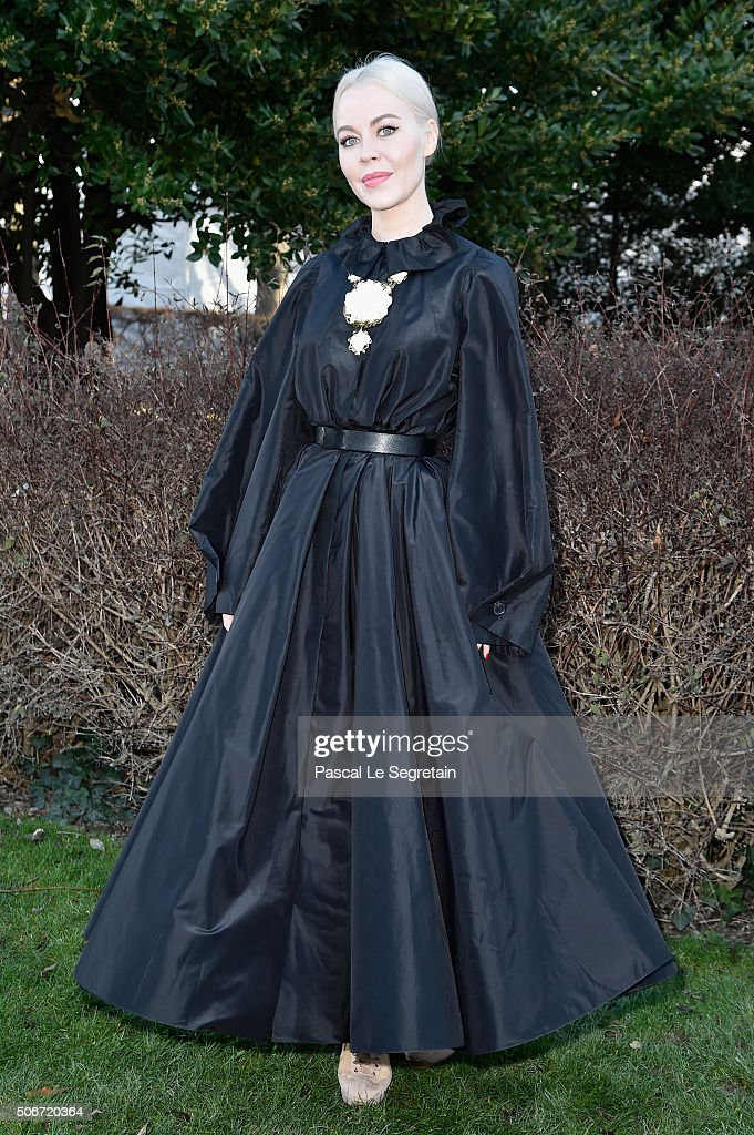 Ulyana Sergeenko attends the Christian Dior Spring Summer 2016 show as part of Paris Fashion Week on January 25 2016 in Paris France