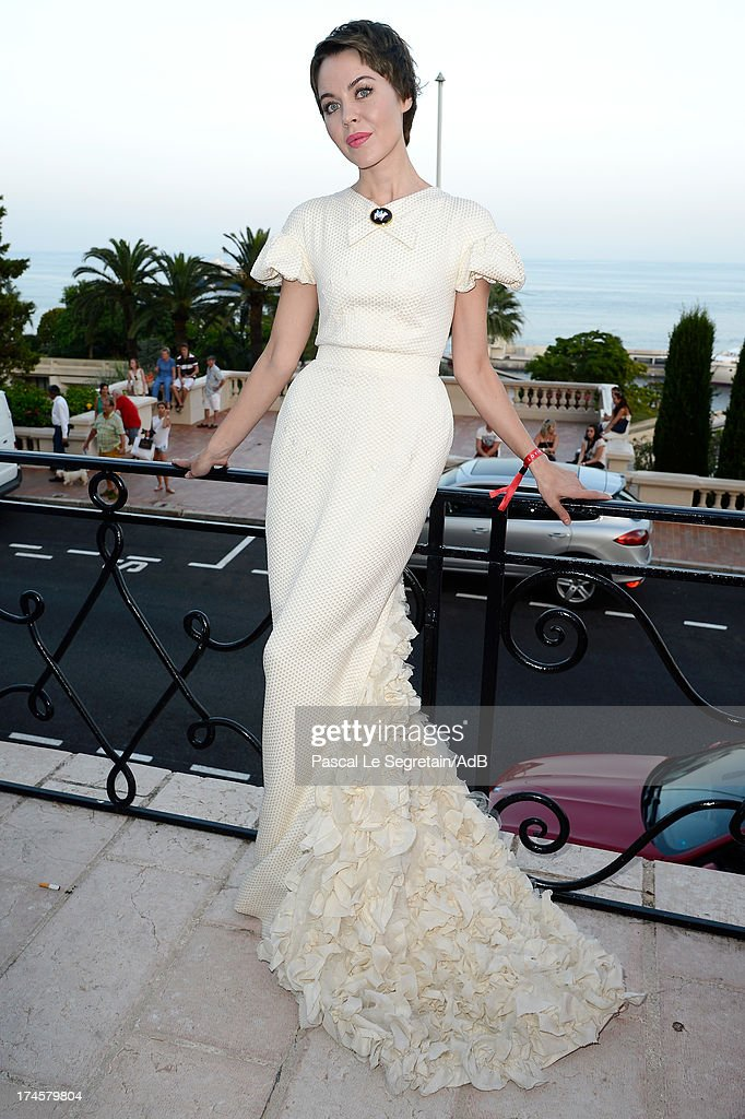Ulyana Sergeenko attends the cocktail at the 'Love Ball' hosted by Natalia Vodianova in support of The Naked Heart Foundation at Opera Garnier on July 27, 2013 in Monaco, Monaco.