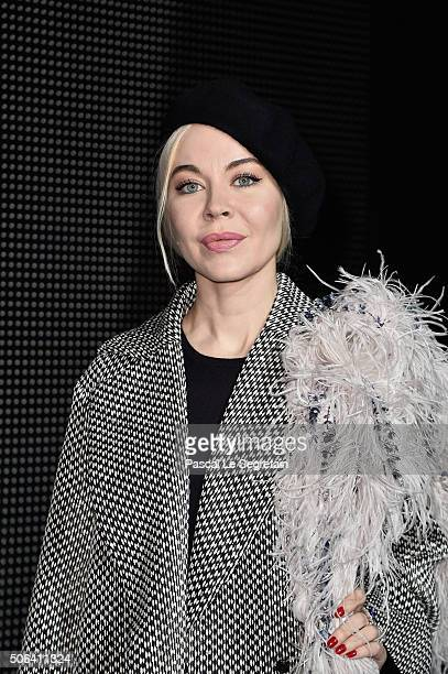 Ulyana Sergeenko attends the Dior Homme Menswear Fall/Winter 20162017 show as part of Paris Fashion Week on January 23 2016 in Paris France