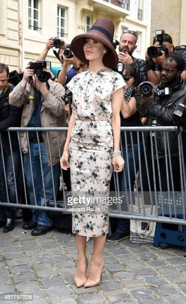 Ulyana Sergeenko attends the Dior show as part of Paris Fashion Week Haute Couture Fall/Winter 20142015 on July 7 2014 in Paris France