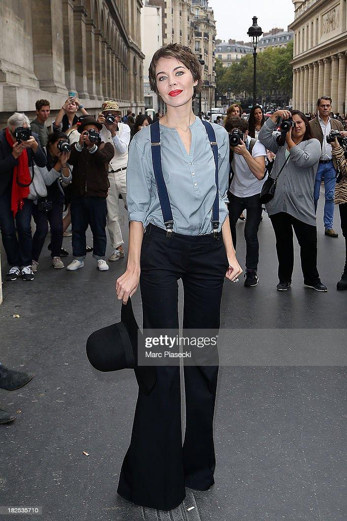Ulyana Sergeenko attends the Giambattista Valli show as part of the Paris Fashion Week Womenswear Spring/Summer 2014 on September 30, 2013 in Paris, France.