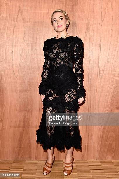 Ulyana Sergeenko attends the Givenchy show as part of the Paris Fashion Week Womenswear Fall/Winter 2016/2017 on March 6 2016 in Paris France