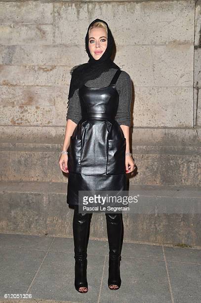 Ulyana Sergeenko attends the Givenchy show as part of the Paris Fashion Week Womenswear Spring/Summer 2017 on October 2 2016 in Paris France