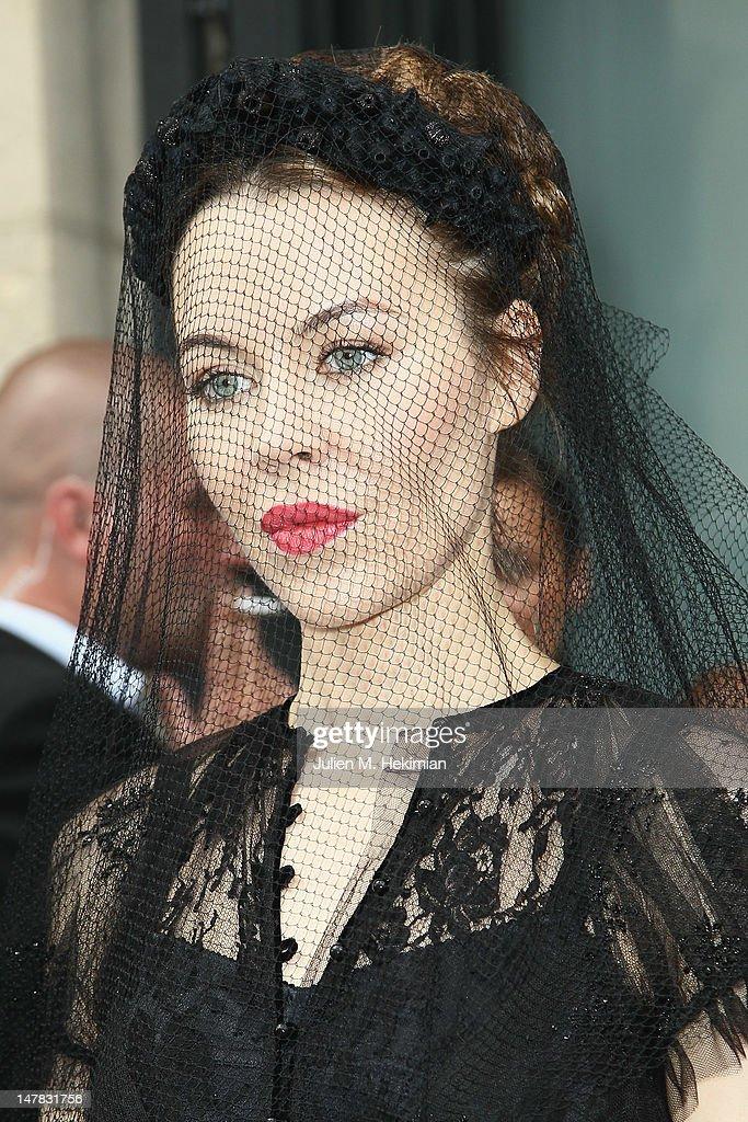 Ulyana Sergeenko attends the Jean-Paul Gaultier Haute-Couture Show as part of Paris Fashion Week Fall / Winter 2012/13 on July 4, 2012 in Paris, France.