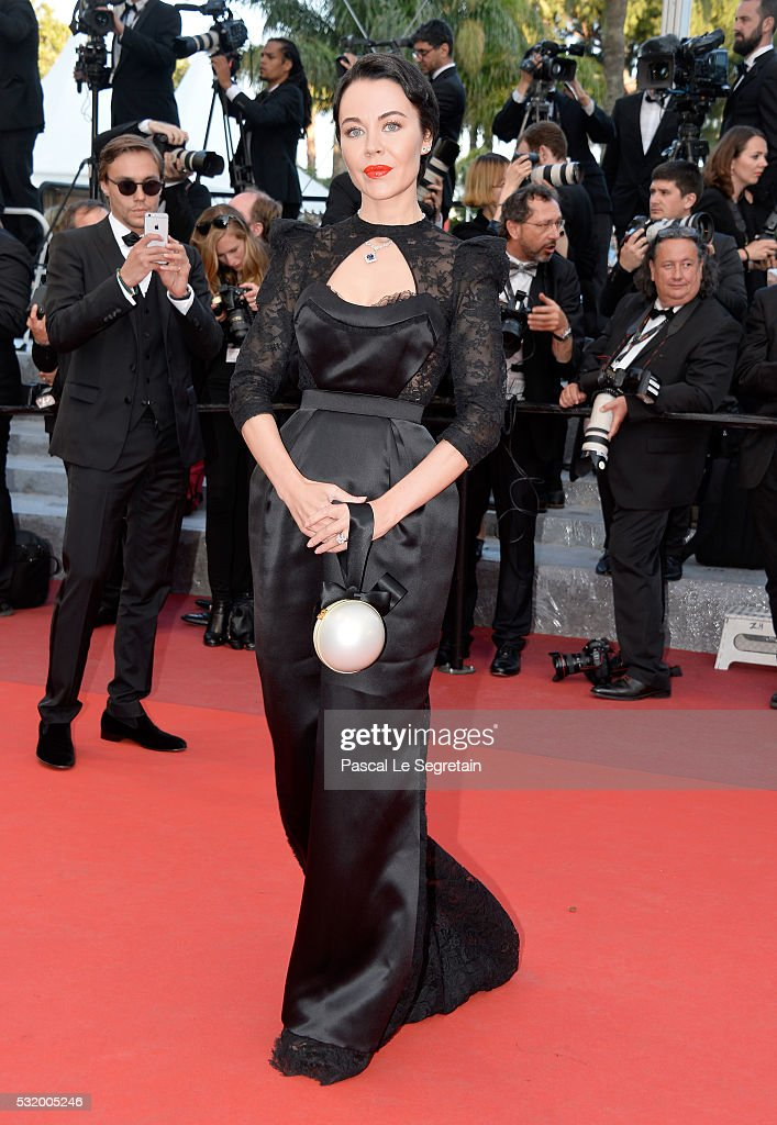 Ulyana Sergeenko attends the 'Julieta' premiere during the 69th annual Cannes Film Festival at the Palais des Festivals on May 17 2016 in Cannes...