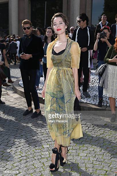 Ulyana Sergeenko attends the Miu Miu show as part of the Paris Fashion Week Womenswear Spring/Summer 2014 on October 2 2013 in Paris France