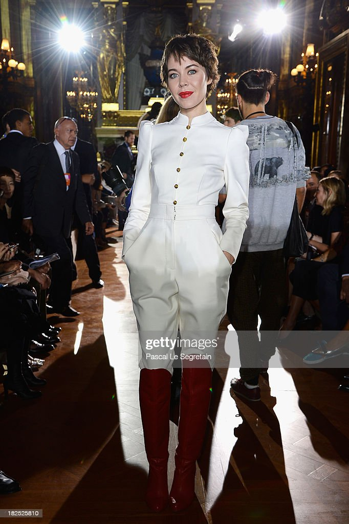 Ulyana Sergeenko attends the Stella McCartney show as part of the Paris Fashion Week Womenswear Spring/Summer 2014 at Palais Garnier on September 30, 2013 in Paris, France.