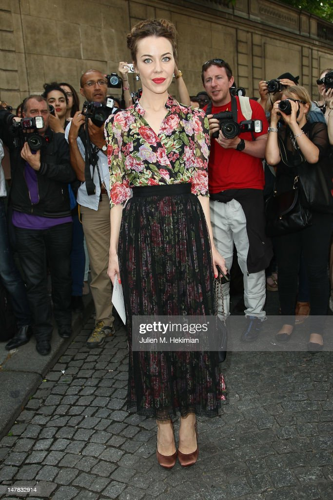 Ulyana Sergeenko attends the Valentino Haute-Couture Show as part of Paris Fashion Week Fall / Winter 2012/2013 at Hotel Salomon de Rothschild on July 4, 2012 in Paris, France.