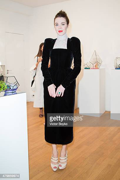 Ulyana Sergeenko attends Venyx Cocktail as part of Paris Fashion Week Haute Couture Fall/Winter 2015/2016> on July 7 2015 in Paris France
