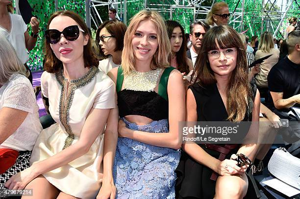Ulyana Sergeenko Elena Perminova and Miroslava Duma attend the Christian Dior show as part of Paris Fashion Week Haute Couture Fall/Winter 2015/2016...