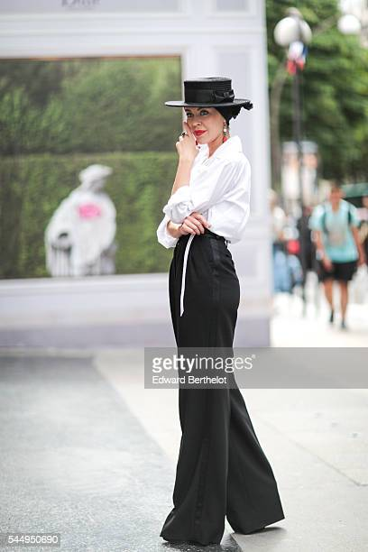 Ulyana Sergeenko is seen after the Dior show during Paris Fashion Week Haute Couture F/W 2016/2017 on July 4 2016 in Paris France