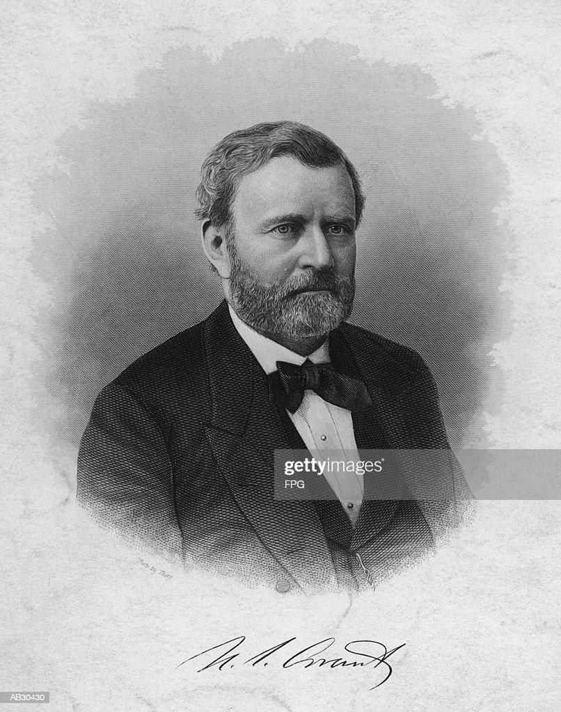 Ulysses S. Grant (1822-85), 18th US President (B&W) : Stock Photo