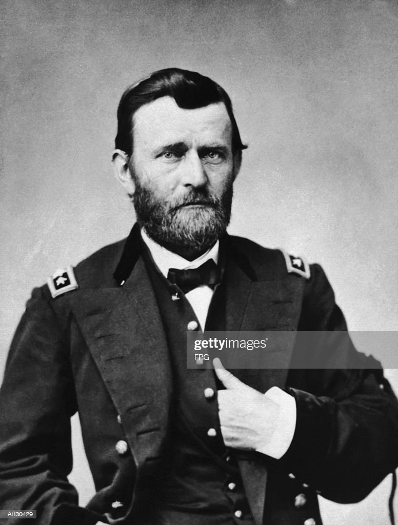 Ulysses S. Grant (1822-85) US general and 18th President (B&W) : Stock Photo