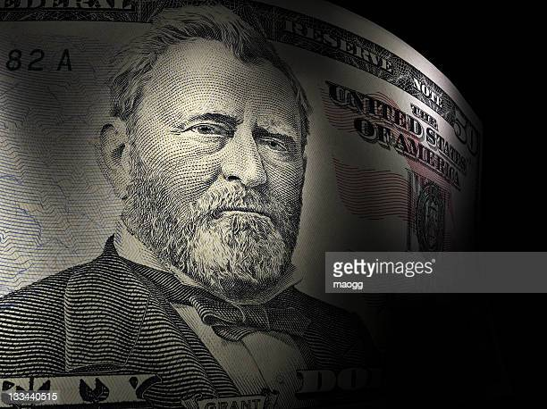 Ulysses S. Grant's close up in a fifty dollar bill