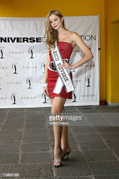 Uma Blasini Miss Universe Puerto Rico 2007 during Miss Universe 2007 Contestants Arrive in Mexico City Day 2 at Hotel Camino Real in Mexico Mexico...