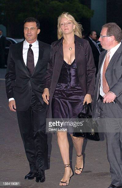 Uma Thurman and Andre Balazs during Dream Auction FULL STOP VIP Party Outside Arrivals at Royal Albert Hall in London Great Britain
