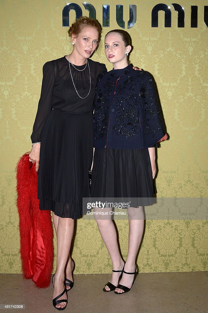 <a gi-track='captionPersonalityLinkClicked' href=/galleries/search?phrase=Uma+Thurman&family=editorial&specificpeople=171973 ng-click='$event.stopPropagation()'>Uma Thurman</a> and her daughter Maya Hawke attend the Miu Miu Resort Collection 2015 at Palais d'Iena on July 5, 2014 in Paris, France.