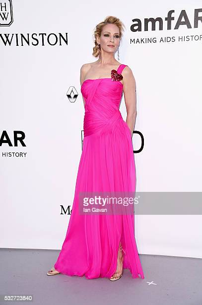 Uma Thurman arrives at amfAR's 23rd Cinema Against AIDS Gala at Hotel du CapEdenRoc on May 19 2016 in Cap d'Antibes France