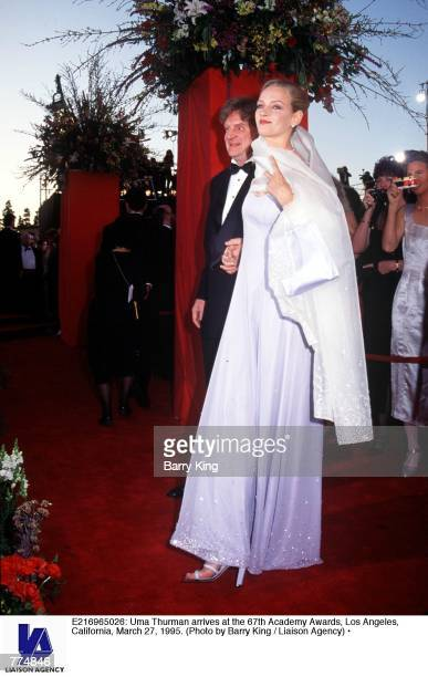 Uma Thurman arrives at the 67th Academy Awards Los Angeles California March 27 1995