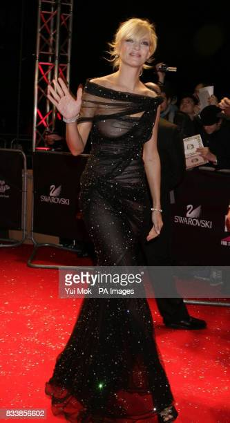 Uma Thurman arrives for Swarovski Fashion Rocks for The Prince's Trust at the Royal Albert Hall in central London