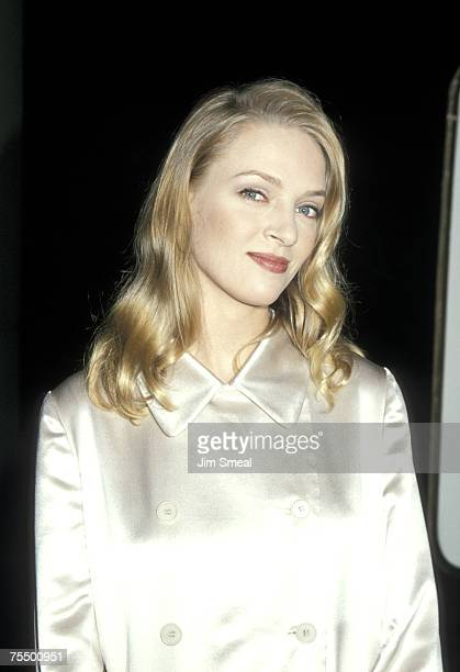 Uma Thurman at the Beverly Hilton Hotel in Beverly Hills California
