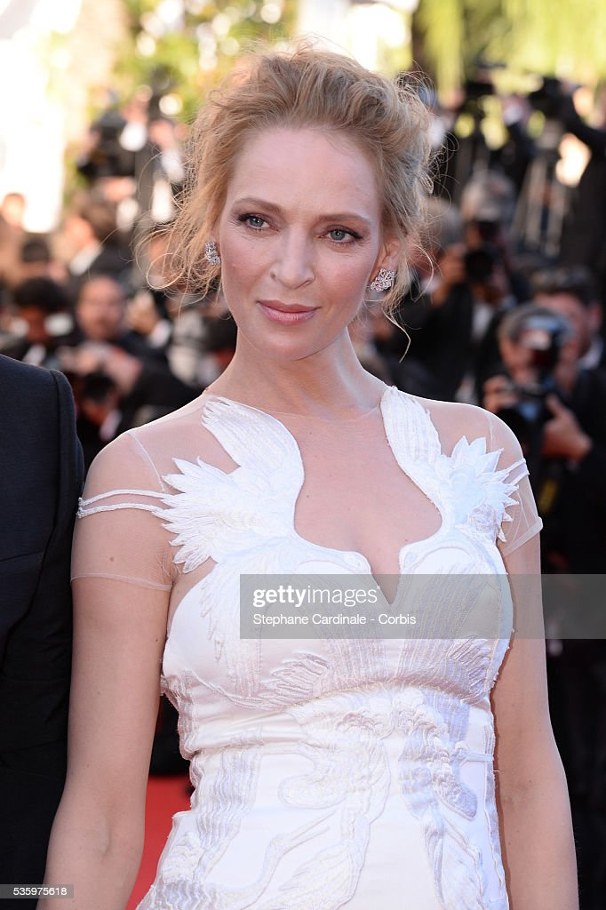 Uma Thurman at the Closing ceremony and 'A Fistful of Dollars' screening during 67th Cannes Film Festival