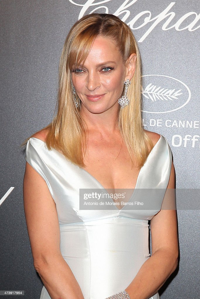 Uma Thurman attends a celebrity party during the 68th annual Cannes Film Festival on May 18, 2015 in Cannes, France.