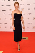 Uma Thurman attends Kryolan at the Bambi Awards 2014 on November 13 2014 in Berlin Germany