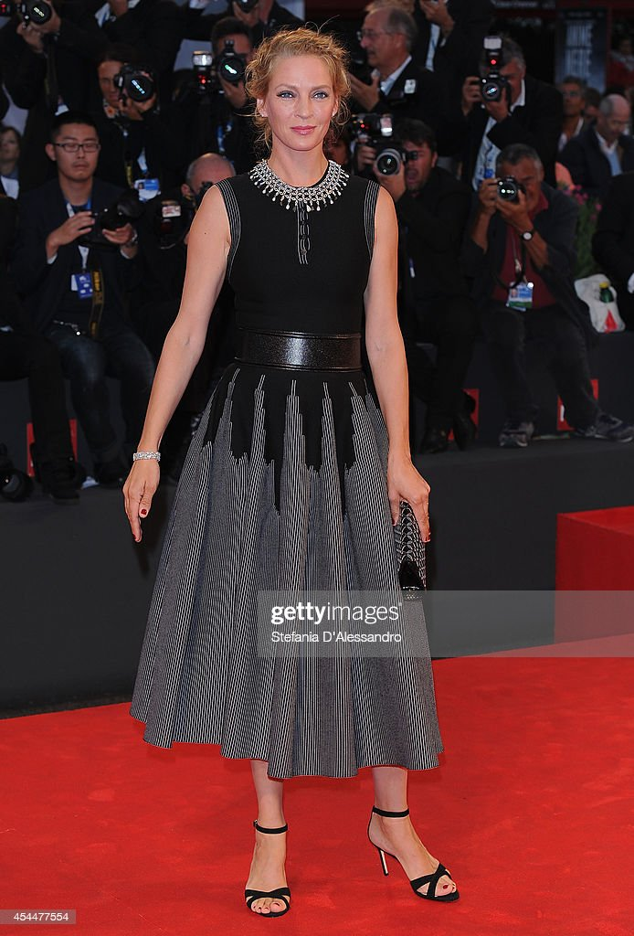 Uma Thurman attends Nymphomaniac Premiere on September 1, 2014 in Venice, Italy.