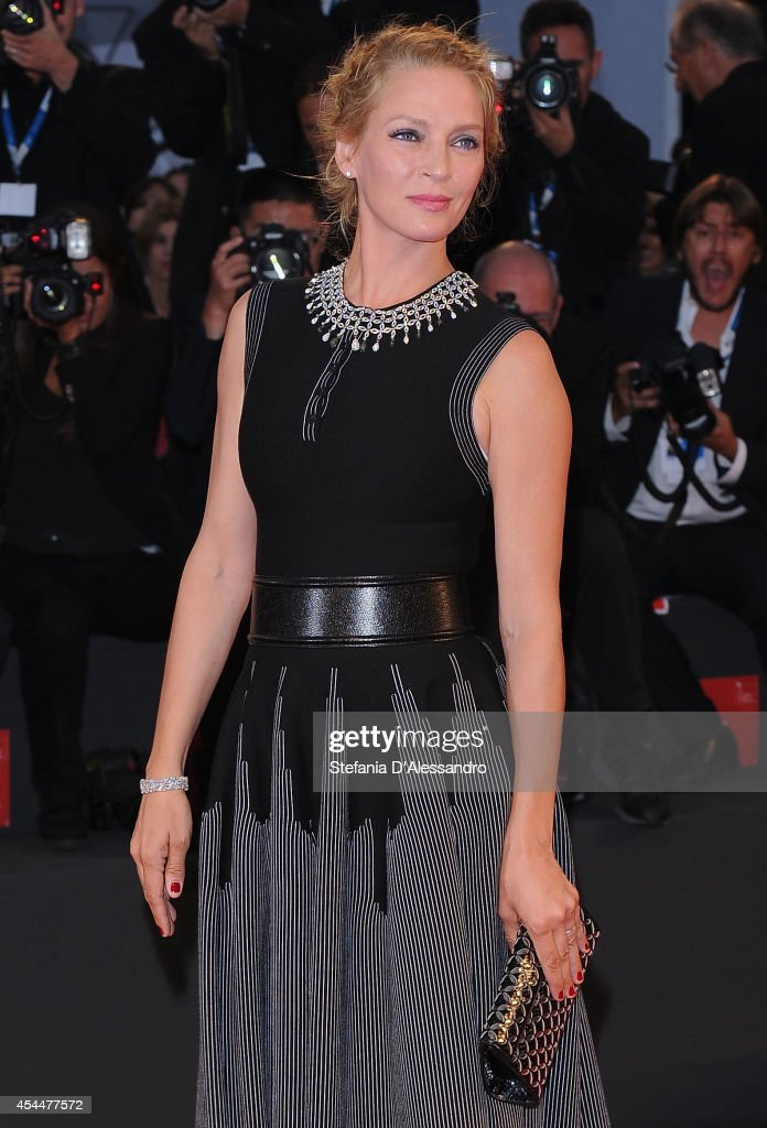 <a gi-track='captionPersonalityLinkClicked' href=/galleries/search?phrase=Uma+Thurman&family=editorial&specificpeople=171973 ng-click='$event.stopPropagation()'>Uma Thurman</a> attends Nymphomaniac Premiere on September 1, 2014 in Venice, Italy.