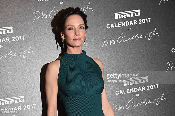 Uma Thurman attends Pirelli Calendar 2017 by Peter Lindberg photocall at La Cite Du Cinema on November 29 2016 in SaintDenis France