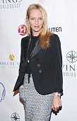 Uma Thurman attends the 2014 Wings WorldQuest Women of Discovery Awards at Stephan Weiss Studio on October 16 2014 in New York City