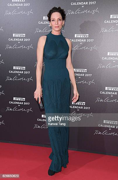 Uma Thurman attends the 2017 Pirelli Calendar Gala Dinner at La Cite Du Cinema on November 29 2016 in SaintDenis France