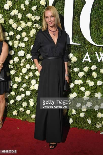 Uma Thurman attends the 2017 Tony Awards at Radio City Music Hall on June 11 2017 in New York City