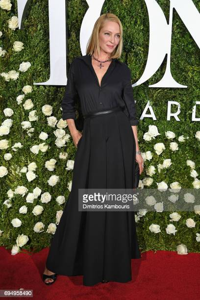 Uma Thurman attends the 2017 Tony Awards at Radio City Music Hall on June 11 2017 in New York City