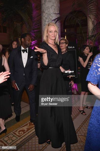 Uma Thurman attends the 2017 Tony Awards Gala at The Plaza Hotel on June 11 2017 in New York City