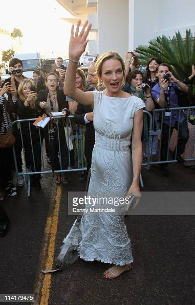 Uma Thurman attends the 64th Annual Cannes Film Festival on May 14 2011 in Cannes France